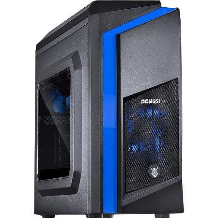 COMPUTADOR VGAMER NEXUS - Intel Core i3 7° ger, H110, 8GB DDR4, RX 480 8GB, 1TB, 500W 80 PLUS, PCYES! Dwarf Azul