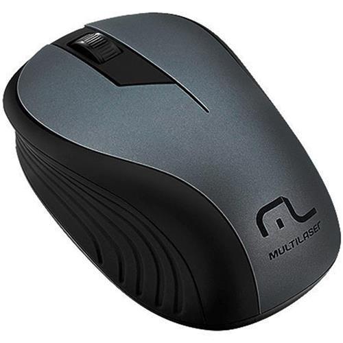 Mouse Multilaser Sem Fio 2.4Ghz Preto Grafite Usb MO213