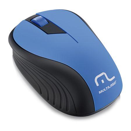 Mouse Multilaser Sem Fio 2.4ghz Preto E Azul Usb - Mo215