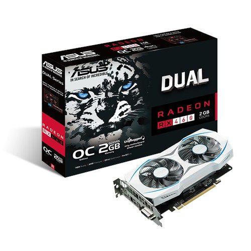 PLACA DE VIDEO ASUS RADEON RX 460 OC 2GB DDR5 128 BITS - DUAL-RX460-O2G
