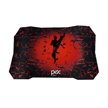 Mouse Pad Gamer Pisc Preto e Vermelho - 1884