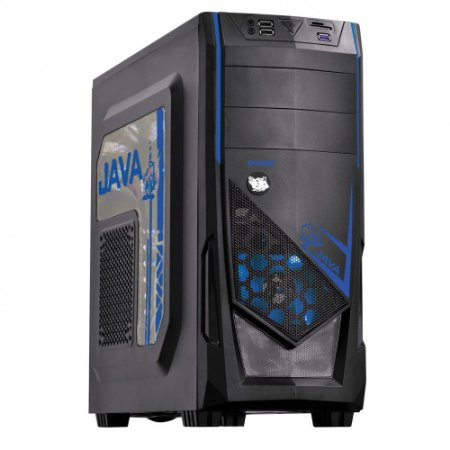 COMPUTADOR VGAMER WATER ELEMENT - Intel Core i3 7° ger, H110, 8GB DDR4, RX 470 4GB, 1TB, 500W 80 PLUS, JAVA / PC Gamer