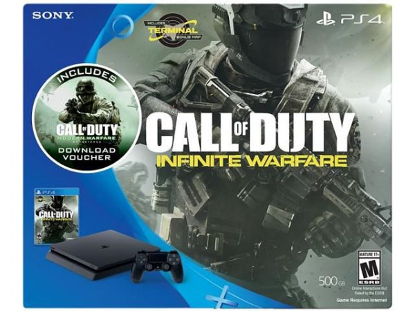 Playstation 4 Slim 500GB com Call of Duty Infinite Warfare - PS4 - Play 4 + Barato do Brasil