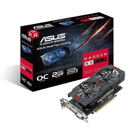 Placa de Vídeo RX 560 2GB D5 ASUS RX560-O2G 90YV0AH2-M0NA00