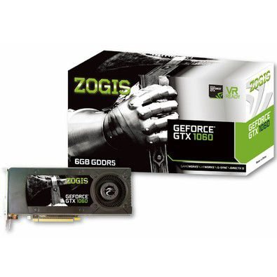 Placa de Vídeo ZOGIS GEFORCE ZO1060-6GD5H (GPU GTX 1060, 6GB, DDR5)