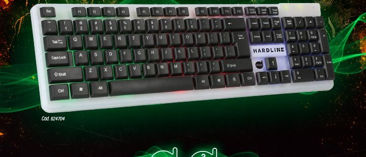 Teclado Gamer Hardline USB 2.0 Dazz