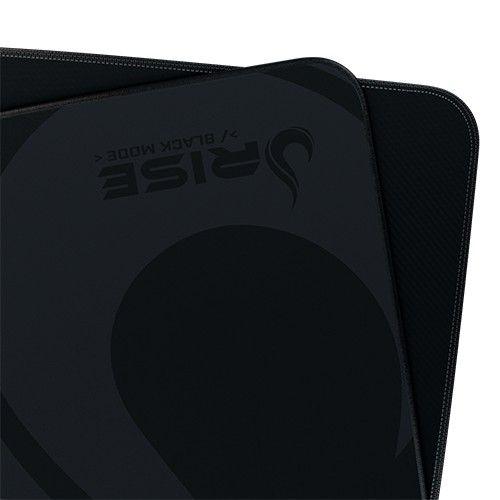 Mousepad Rise Gaming- FULL BLACK - COSTURADO - Tamanho Grande - Fibertek