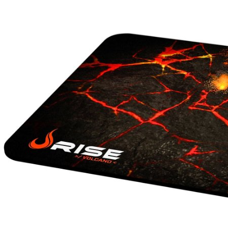 Mousepad Rise Gaming- VOLCANO - COSTURADO - Tamanho Grande - Fibertek