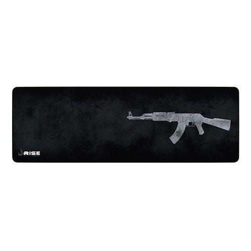 Mousepad Rise Gaming- AK47- COSTURADO- Tamanho Extended- Fibertek