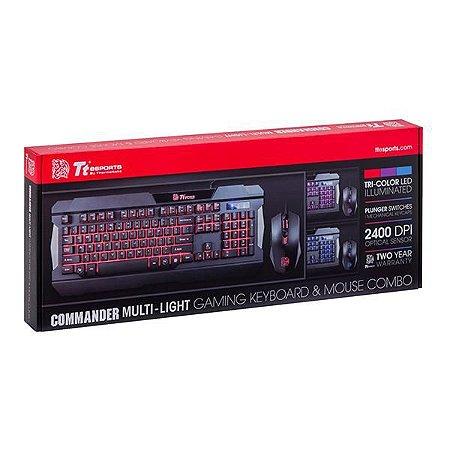Teclado+Mouse Tt Sports Commander Combo/Multi Backlit Kb-Ccm-Plblpb-01