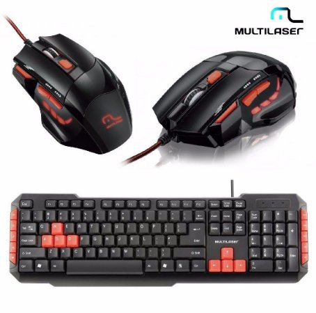 Combo Teclado E Mouse Gamer Red Keys And Buttons (05)