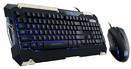 Teclado+Mouse Tt Sports Commander Combo Kb-Cmc-Plblpb-01