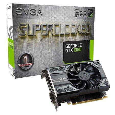 Placa de Vídeo Gtx 1050 2GB Sc Acx DDR5 EVGA 02G-P4-6152-KR