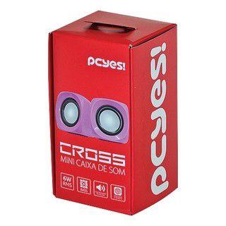 Caixa De Som Cross 6W RMS Rosa -
