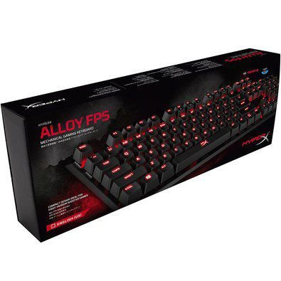 Teclado HyperX Gamer Alloy FPS PRO Cherry MX Red Led RED PN # HX-KB4RD1-US/R2