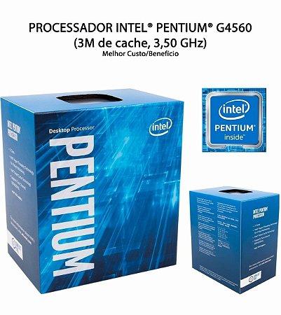 PROCESSADOR INTEL PENTIUM G4560 3,50 GHZ 3MB CACHE LGA 1151 KABYLAKE 7A GERACAO