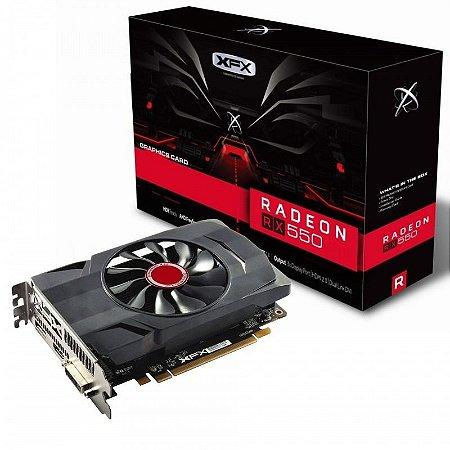 GPU RX 550 2GB RADEON DDR5 1203MHZ CORE DP XFX RX-550P2SFG5