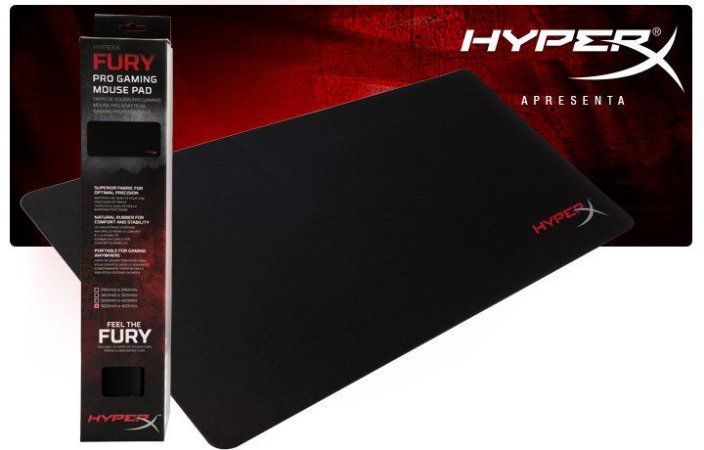 Mouse Pad HyperX FURY S FPS Pro Gaming ( XGRD ) PN # HX-MPFS-XL