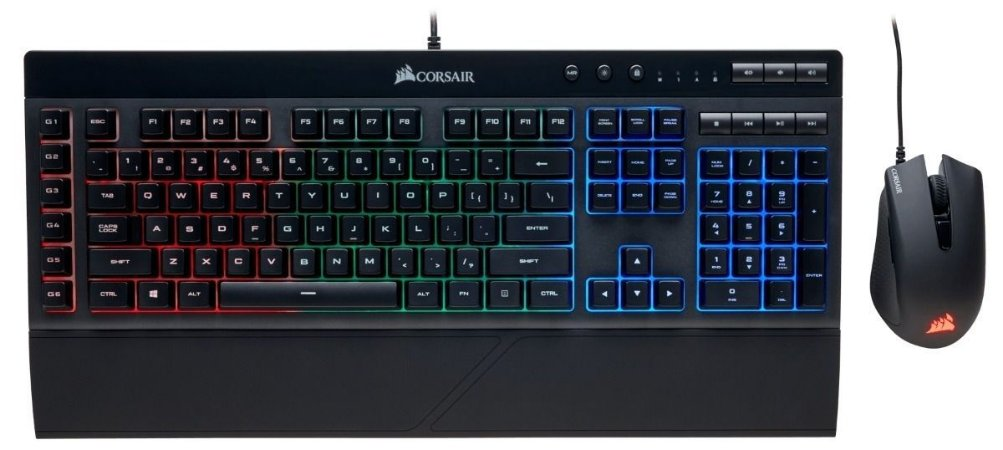 Kit Mouse e Teclado - Corsair K55 + Harpoon