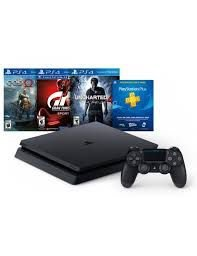 PlayStation 4 Slim 1Tb - 3 jogos (God of War, Uncharted 4, Gran Turismo)