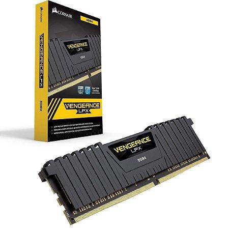 Memória Corsair Vengeance 8GB 2400MHz DDR4 C14 Preta