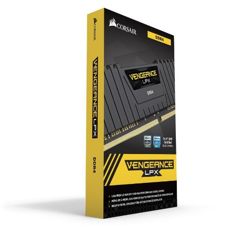 Memória Corsair Vengeance 4GB 2400MHz DDR4 C14 Preta