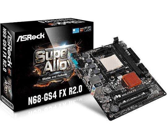 Placa Mãe Asrock N68-GS4 FX R2.0 (AM3+/AM3/ DDR3/ D-Sub )