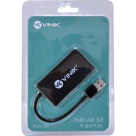 HUB USB 3.0 4 PORTAS HUV-30