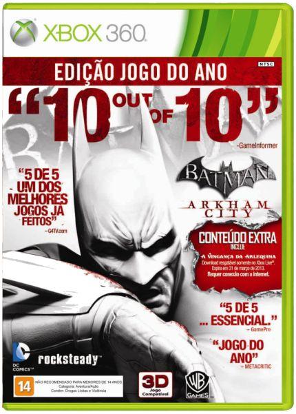 Batman Arkham City - Edição Jogo do Ano Xbox 360 (Semi-novo)
