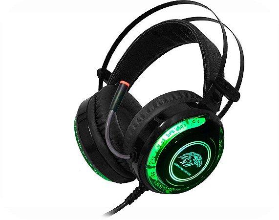 HEADSET GAMER KMEX MIC ARS930 PRETO LED RGB