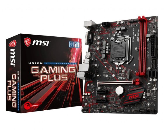 PLACA MÃE MSI H310M GAMING PLUS 911-7B28-001