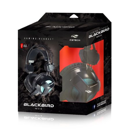 FONE DE OUVIDO MIC C3TECH GAMER BLACKBIRD PHG110BK PTO