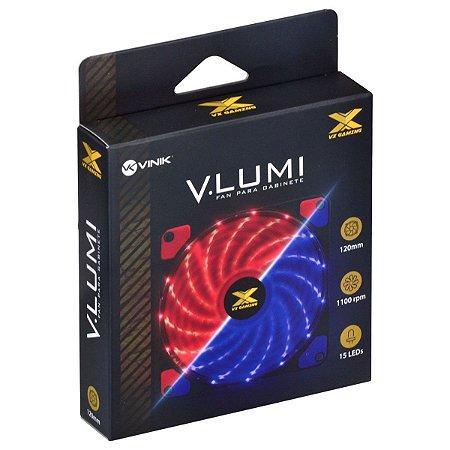 FAN GAB. V.LUMI 15 LED 120X120 AZUL