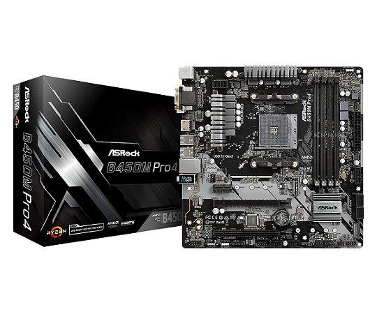 PLACA MAE AMD ASROCK B450M PRO04 DDR4 AM4 90MXB8F0A0UAYZ