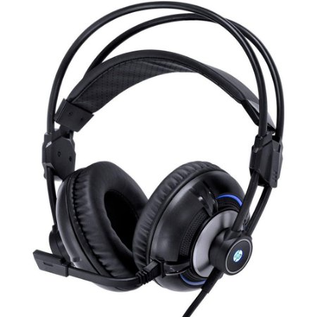 Headset Gamer HP H300 Black 2.1, LED Azul