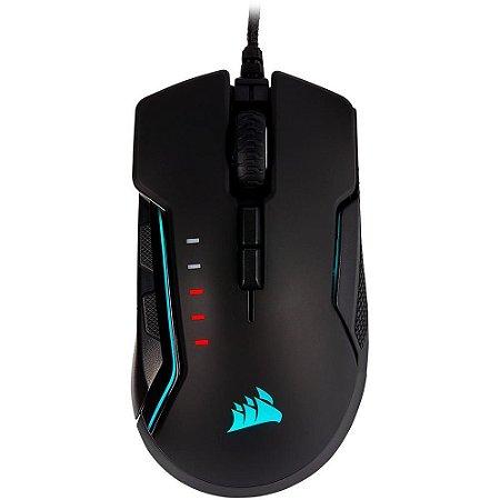 Mouse Corsair GLAIVE RGB PRO Black USB Optical 100-18000 DPI PN # CH-9302211-NA