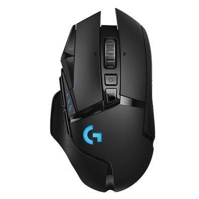 Mouse Sem Fio Gamer Logitech G502 Hero 16k Lightspeed, Recarregável, RGB Lightsync, 11 Botões, 16000DPI, 910-005566