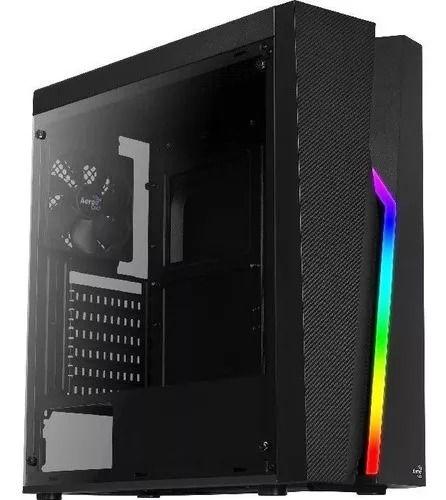 Gabinete Gamer Aerocool Bolt RGB, Mid Tower, Com 1 Fan, Lateral em Acrílico, Black, Sem Fonte