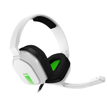 Headset ASTRO Gaming A10 para PlayStation/PC/Switch/Xbox, P2,  Branco/Verde  - 939-001854
