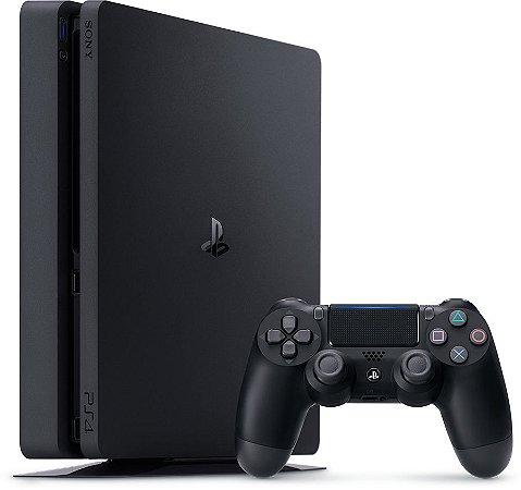 Playstation 4 Slim 500GB - PS4 - Play 4 - Kit de fábrica + Barato do Brasil