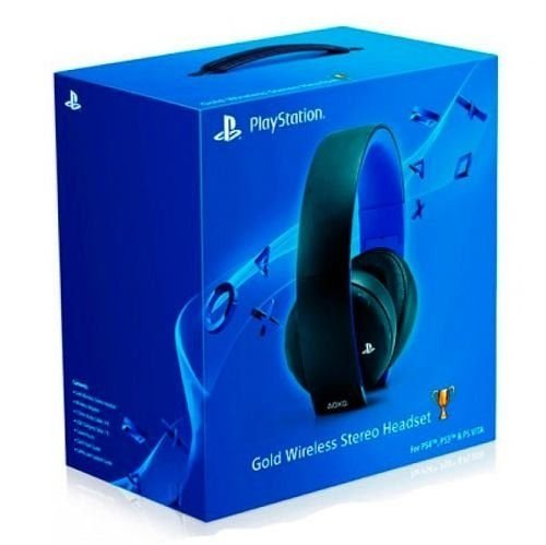 Headset Sony Gold 7.1 Virtual Wireless Stereo Sem Fio Ps4 Ps3 Vita