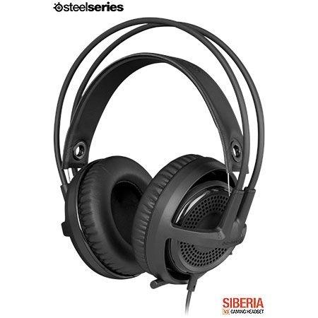 FONE HEADSET STEELSERIES SIBERIA V3 BLACK EDITION 61357 - BOX