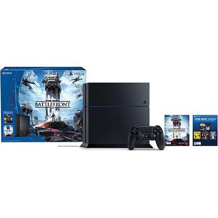 Playstation 4 500GB - PS4 - Play 4 / Bundle Star Wars: Battlefront (digital)