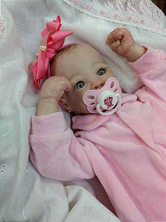 Bebê reborn menina cabelos pintados
