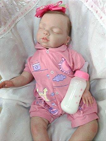 Bebê reborn menina, cabelos enraizados, molde importado