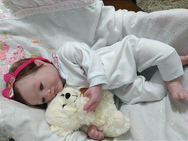 Bebê reborn menina 49 cm e 1,65 kg aproximadamente