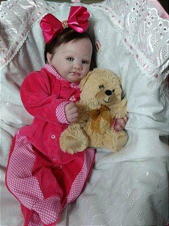 Bebê reborn menina cabelos implantados 49 cm e 1,5 kg