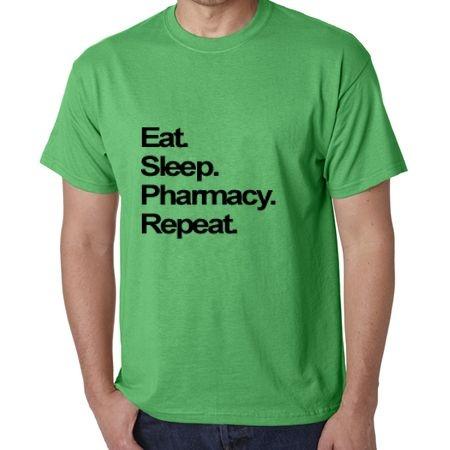 Camisa Eat. Sleep. Pharmacy. Repeat. Masculina