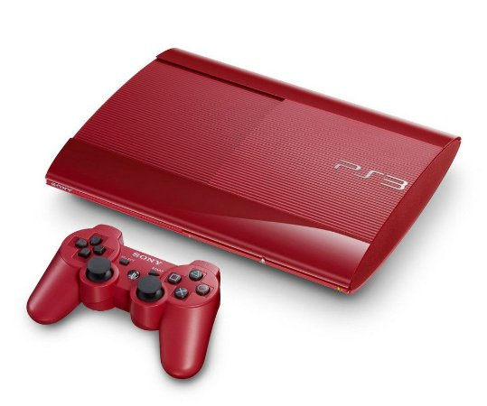 Console PlayStation 3 Super Slim Vermelho 500GB - Sony