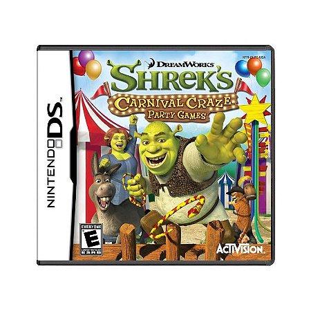 Jogo Shrek's Carnival Craze Party Games - DS